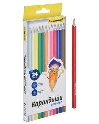 """Карандаши цветные Silwerhof """"Народная коллекция"""", шестигранные, 24 цвета, арт. 134214-24"""