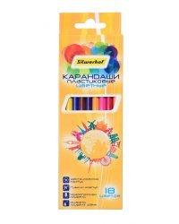 """Карандаши цветные Silwerhof """"Солнечная коллекция"""", шестигранные, 18 цветов, арт. 134215-18"""