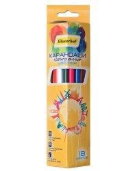 """Карандаши цветные Silwerhof """"Солнечная коллекция"""", трехгранные, 18 цветов, арт. 134216-18"""