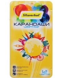 """Карандаши цветные Silwerhof """"Солнечная коллекция"""", 12 цветов, арт. 134220-12"""