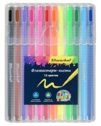 "Фломастеры Silwerhof ""Цветландия"", 12 цветов, 9 мм, арт. 877069-12"