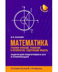 Математика: графики функций, уравнения и неравенства, содержащие модуль. Профильный уровень
