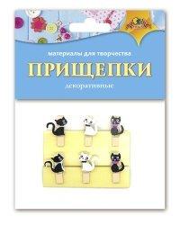 """Материалы для творчества """"Прищепки декоративные. Кошечки"""""""