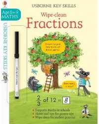 Wipe-clean Fractions. Age 8 to 9
