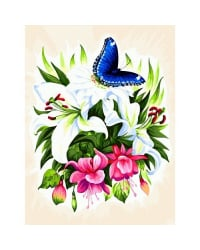 """Живопись на холсте """"Бабочка в ботаническом саду"""", 30x40 см"""