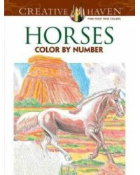 Horses. Color By Number