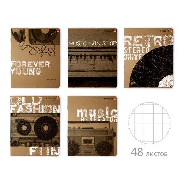 "Тетрадь ""Music forever"", 48 листов, клетка"