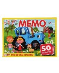 """Карточная игра """"Мемо. Синий трактор"""" (50 карточек)"""