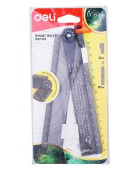 """Линейка """"Deli. Orbit"""", цвет: прозрачный, 30 см, складная, арт. EG01102"""