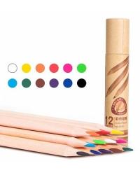 """Карандаши цветные """"Deli"""", трехгранные, 12 цветов, арт. 6550"""