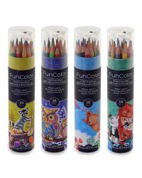 """Карандаши цветные """"Fun Color"""" (пластиковые), 18 цветов"""