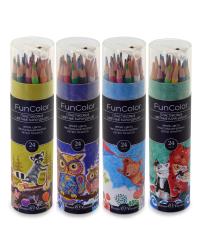 """Карандаши цветные """"Fun Color"""" (пластиковые), 24 цвета"""