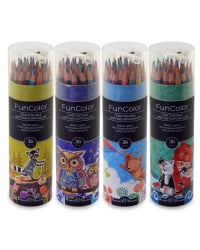 """Карандаши цветные """"Fun Color"""" (пластиковые), 36 цветов"""