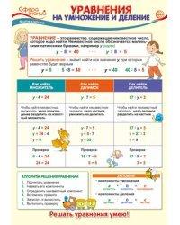 "Плакат А3 ""Уравнения на умножение и деление"""