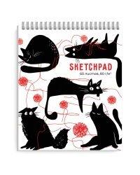 """Скетчпад на гребне """"Черные коты"""", A6, 60 листов"""