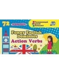 "Английское домино ""Funny English Dominoes. Action Verbs"", 72 доминошки"