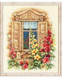 """Набор для вышивания Чудесная игла """"Милое окошко"""", 16х20 см, арт. 74-02"""