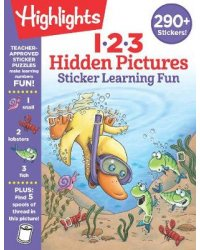 1, 2, 3 Hidden Pictures. Sticker Learning Fun