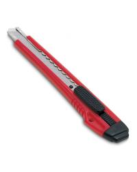 Нож канцелярский KW-trio, цвет: красный, 9 мм, арт. 3563red