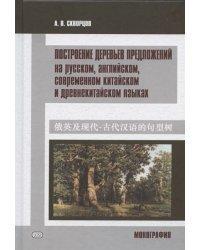 Построение деревьев предложений на русском, английском, современном китайском и древнекитайском языках