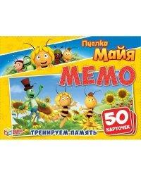 """Карточная игра """"Мемо. Пчелка Майя"""" (50 карточек)"""