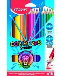 """Карандаши цветные """"Color Peps Strong"""", 18 цветов"""