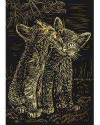 """Гравюра в пакете """"Милые котята"""" (формат A4)"""