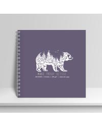 """Скетчбук. Альбом для рисования """"Медведь"""", 20 листов"""