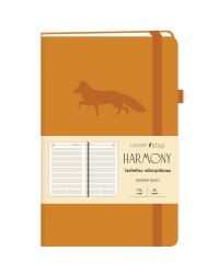 """Недатированный ежедневник """"Harmony. Оранжевый"""", А5-, 136 листов"""