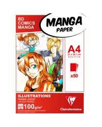 "Скетчбук для маркеров ""Manga Illustrations"", А4, 50 листов"