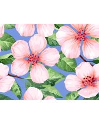 "Холст с красками ""Розовые вишневые цветочки"" (13 цветов)"