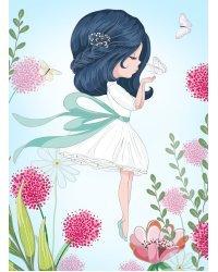 """Холст с красками """"Маленькая порхающая девочка"""" (16 цветов)"""