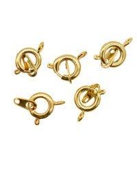 """Замки для бус """"Кольцо"""", с ответной частью, цвет: золото, 9 мм, 5 штук, арт. 4AR2041 (количество товаров в комплекте: 5)"""