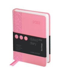 "Ежедневник на 2022 год ""Vivella Prestige"", А6, 184 листа, розовый"