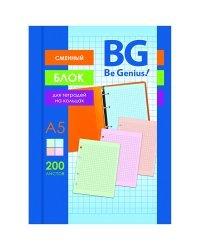 """Сменный блок """"BG"""", А5, 200 листов, клетка"""