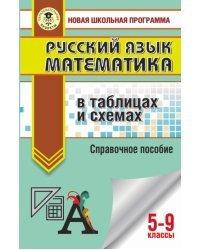 ОГЭ. Русский язык. Математика в таблицах и схемах для подготовки к ОГЭ. 5-9 классы