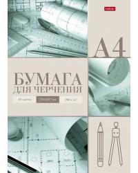 """Бумага для черчения """"Архитектор"""", А4, 10 листов, 200 г/м2"""