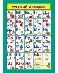 """Учебный плакат А4 """"Русский алфавит"""""""