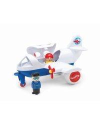 VIKING TOYS Jumbo самолёт с 2 фигурками, 30 см