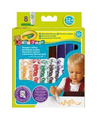 CRAYOLA MINIKIDS Смываемые фломастеры для малышей, 8 цветов