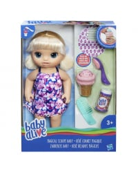 BABY ALIVE кукла малышка с мороженным, блондинка 35cm