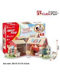 CUBICFUN 3D пазл кукольный дом Sweet Villa