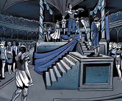 Иллюстрации из комикса «Чудо-Женщина. Вестница войны»